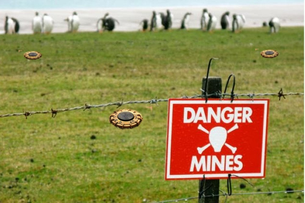 What to do if you step on a landmine