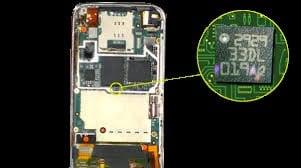 accelerometer in a smartphone
