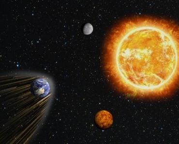 Earth running into sun