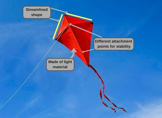 structure of a kite