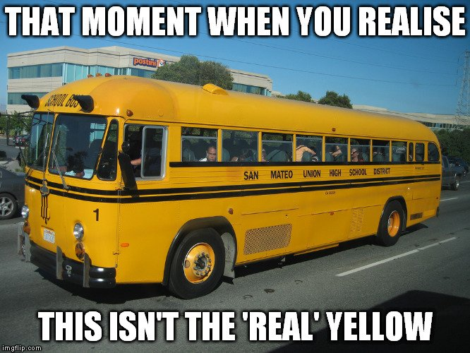 why are school buses yellow science abc