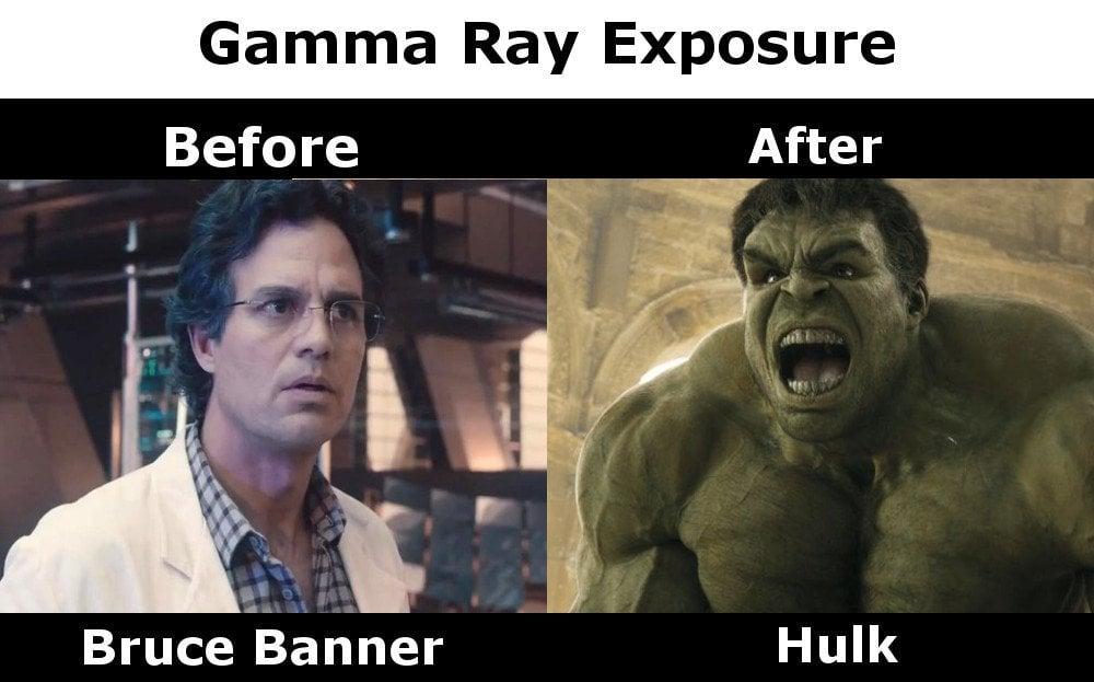 Gamma ray exposure