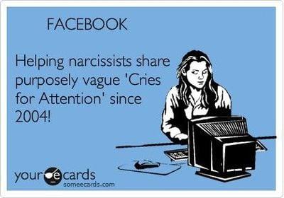 narcissism card
