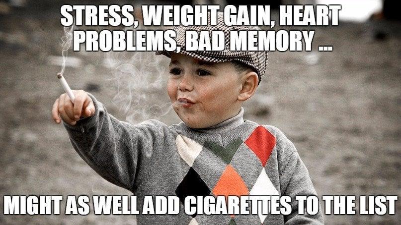 Quit smoking cigarettes meme
