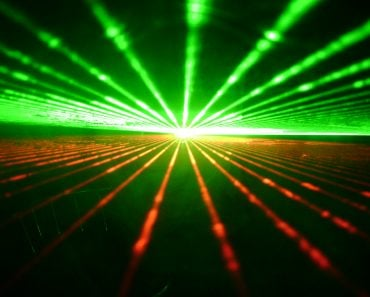 Green & Red laser beam