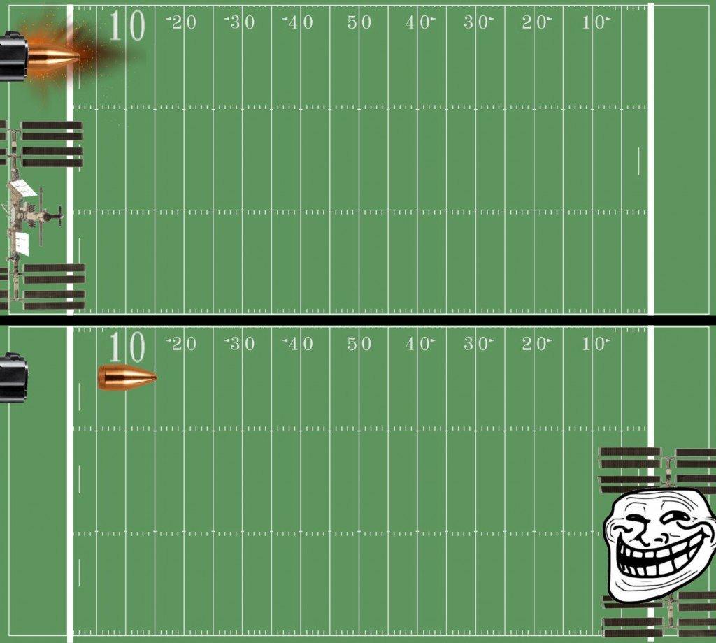ISS vs bullet race meme