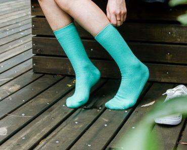 Socks wearing feet