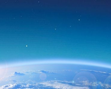 view of Earth atmosphere from space
