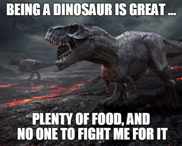 3D rendering of the extinction of the dinosaurs. meme