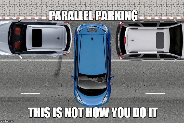 Backing Up Car Into Parking Space