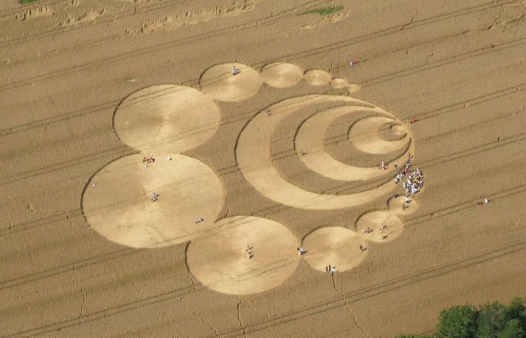 crop circle top view