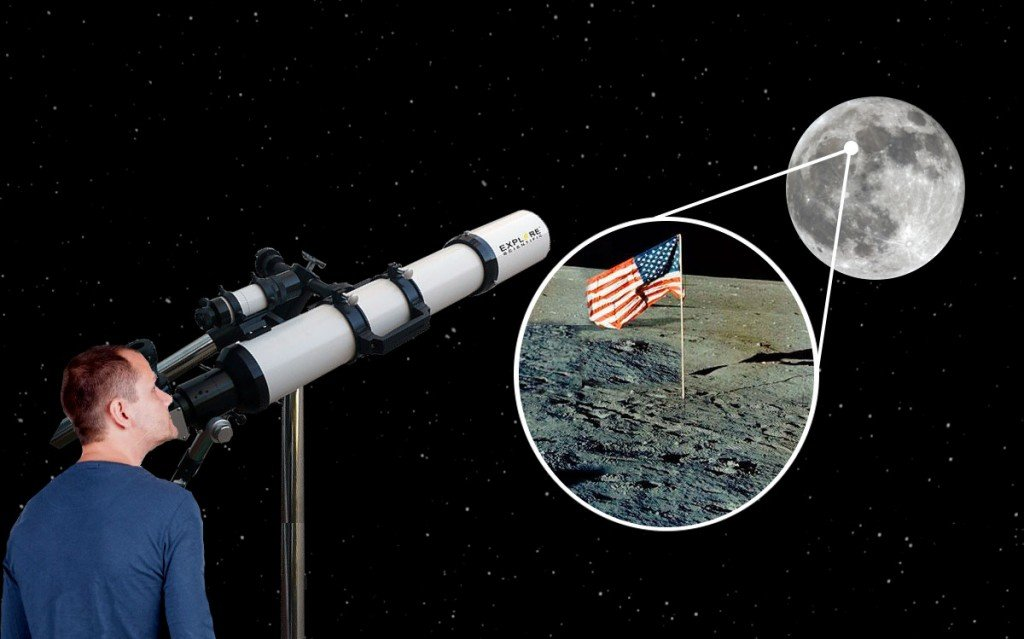 Can We Use Telescopes To See If The Moon Landings Were Real