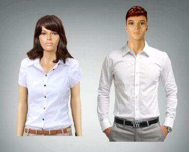 Man woman clothes button