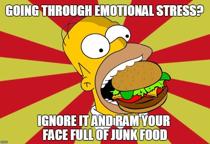 Homer Eating Junk Food Hamburger_