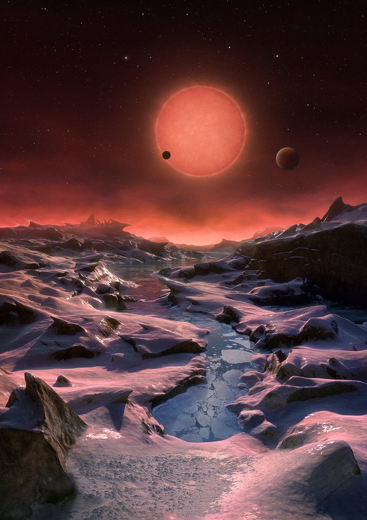 An artist's depiction of the TRAPPIST-1 star