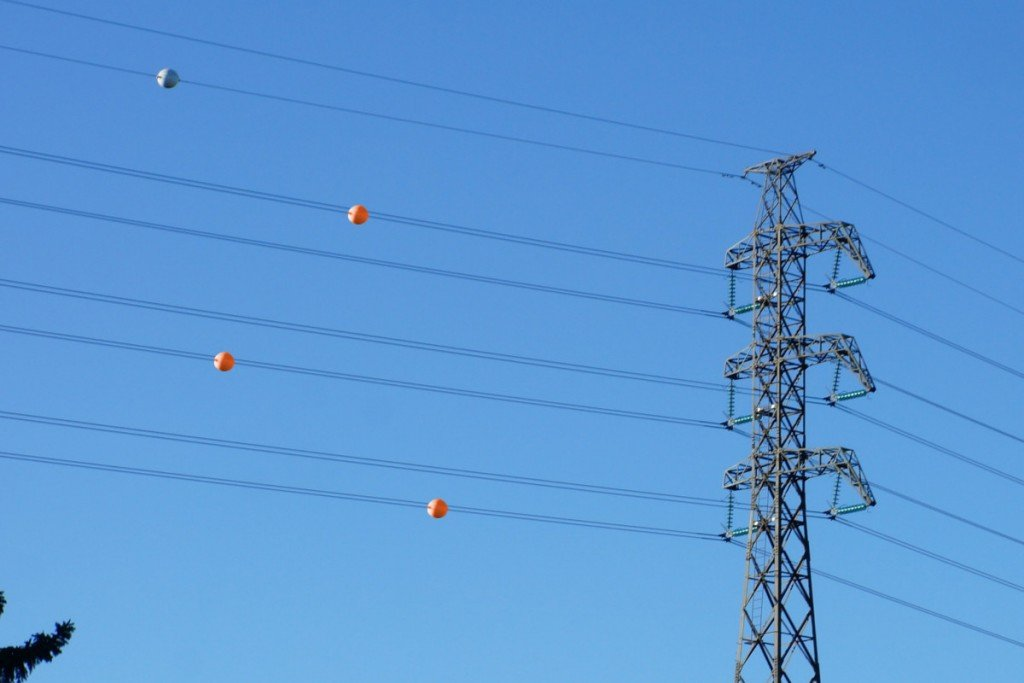 What Are Those Colorful Balls That Are Attached To Power ... Overhead Wiring on