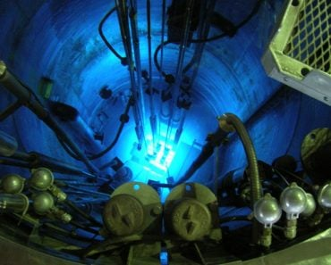 Chernkov radiation in the core of the RA-6 reactor in the Centro Atómico Bariloche