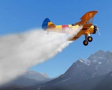 Cloud Seeding by plane