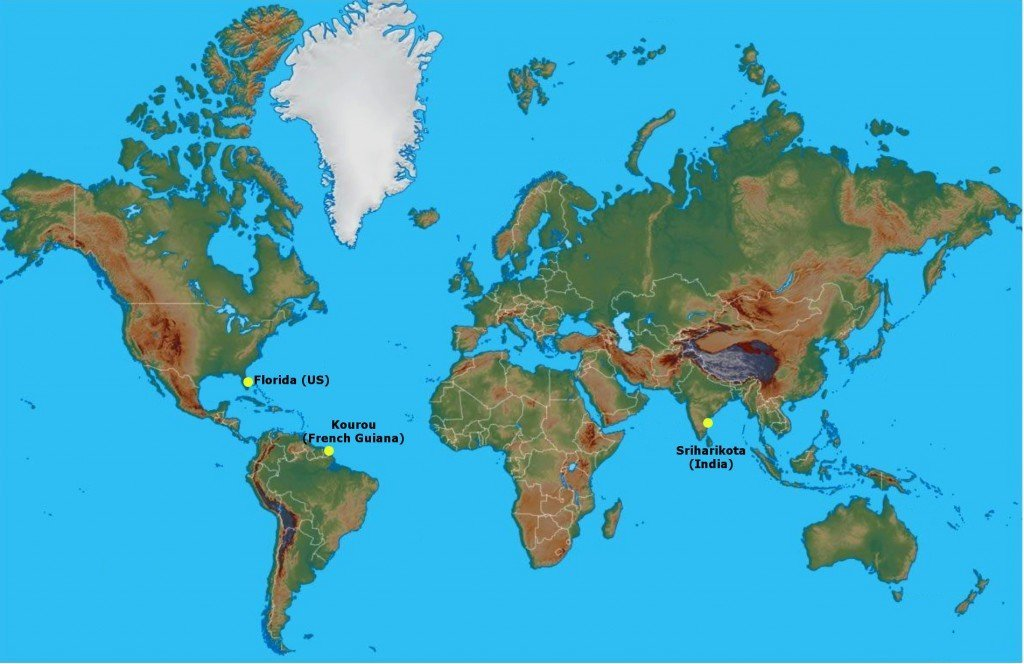 Why are rockets launched from areas near the equator science abc world map gumiabroncs Gallery
