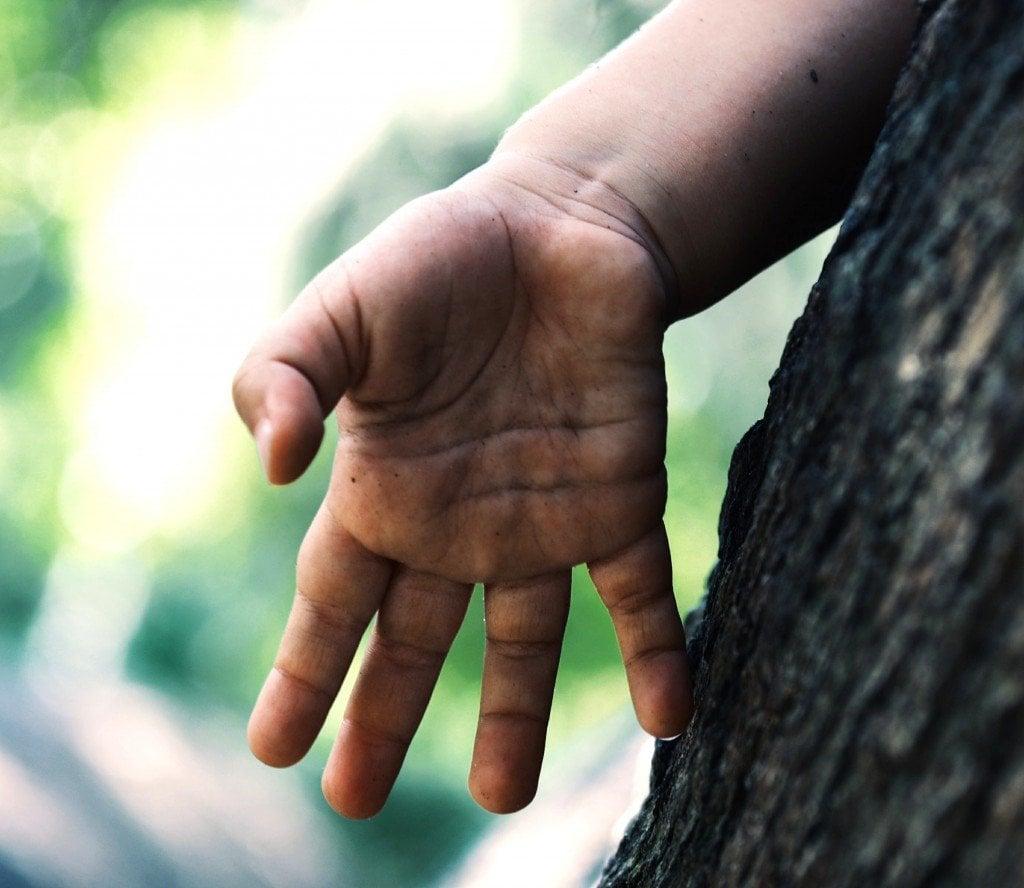 Kid hand palm