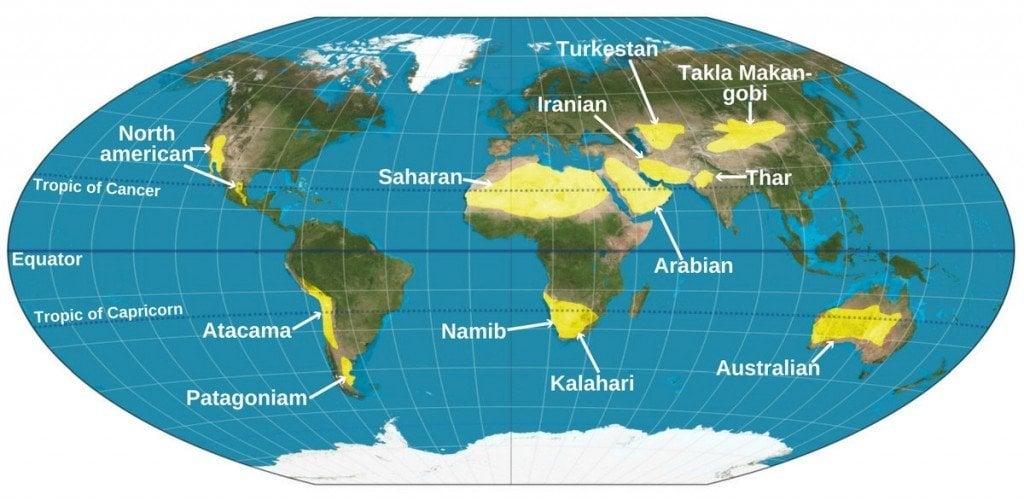 Similiar major deserts keywords world map major deserts images diagram writing sample gumiabroncs Images