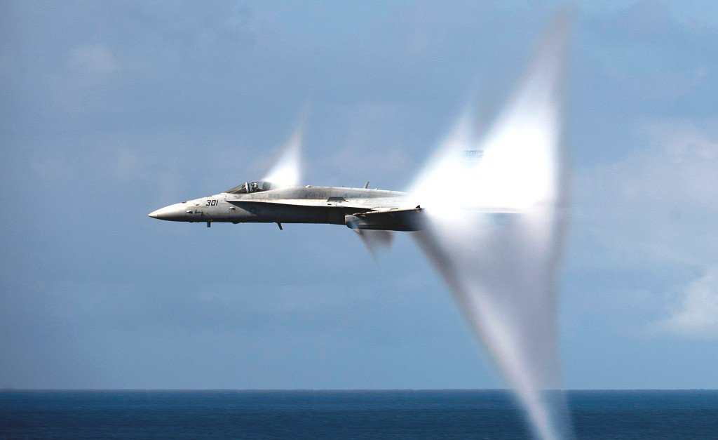 In an Airplane That Has Broken the Sound Barrier, Is It