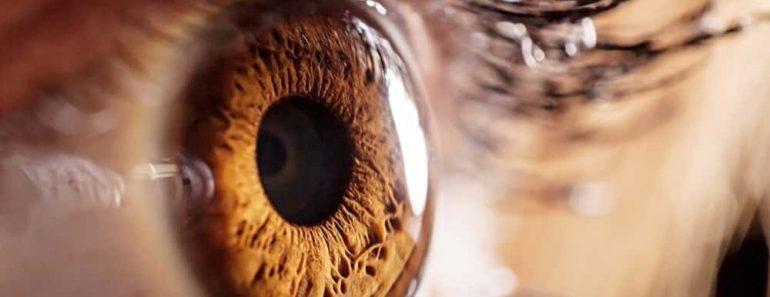 Human eye macro zoom looking photon