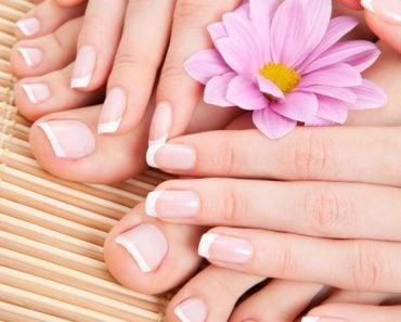 care for beautiful woman hand & toe nails