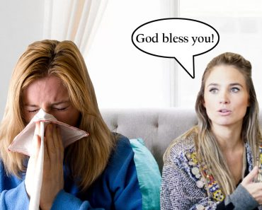 Woman Sneezing blessing