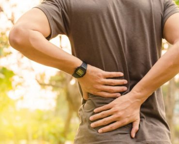 Sport injury backpain rubbing