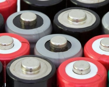 Close up of a battery tops