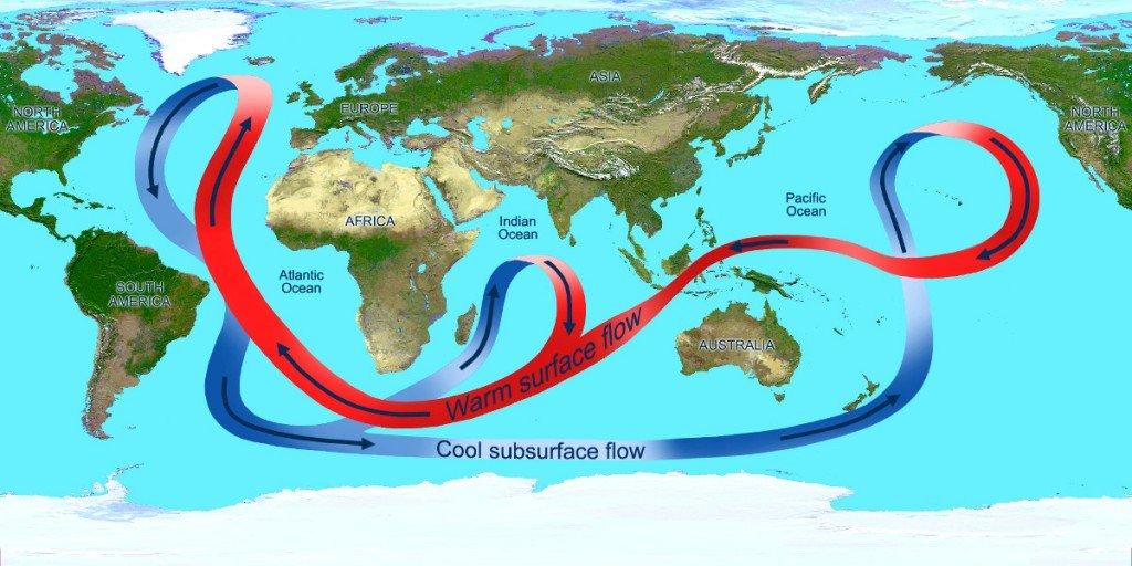 Ocean currents map