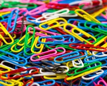 Colourful paperclip clip office office accessories