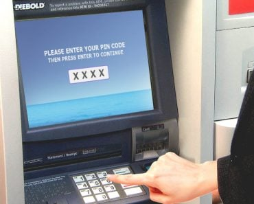 ATM Machine PIN code entering in machine
