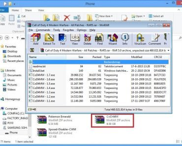 Call of duty 4 MW Game files in zip format
