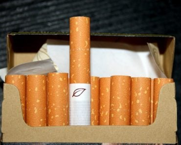 Cigarettes in box