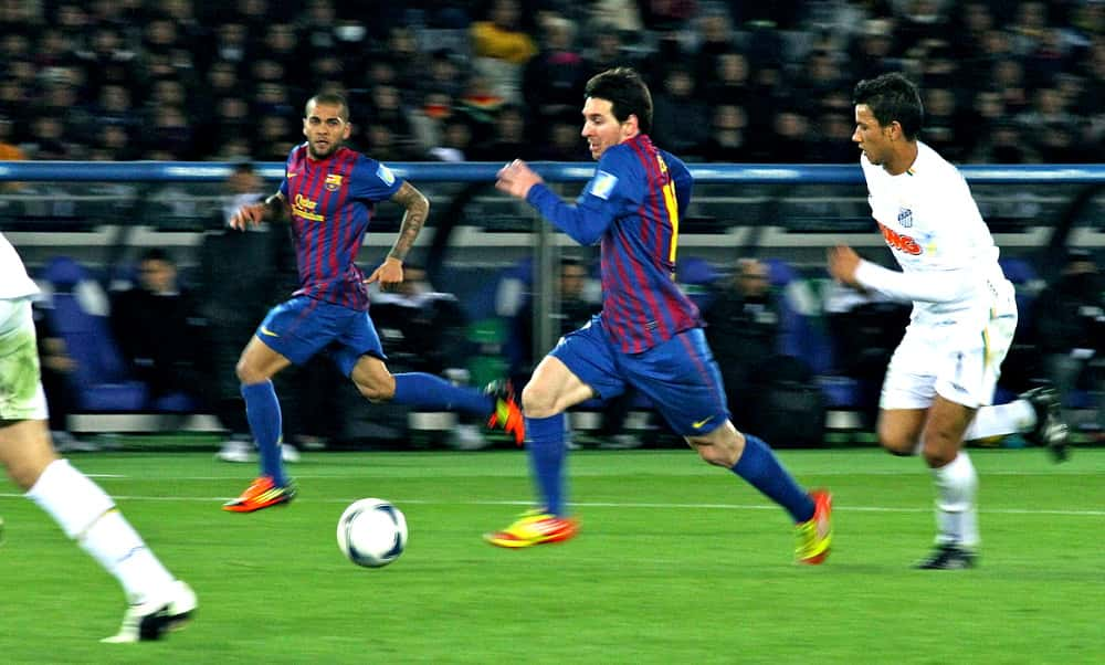 Lionel Messi playing