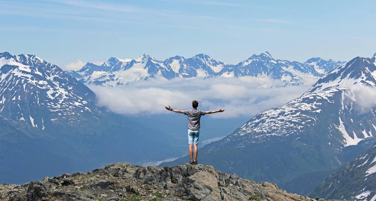 Man stading on mountain