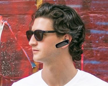 Man Using Wireless Bluetooth headset