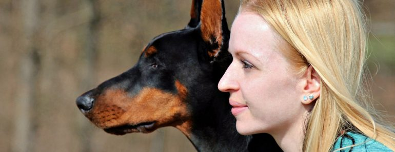 Woman & dog friends