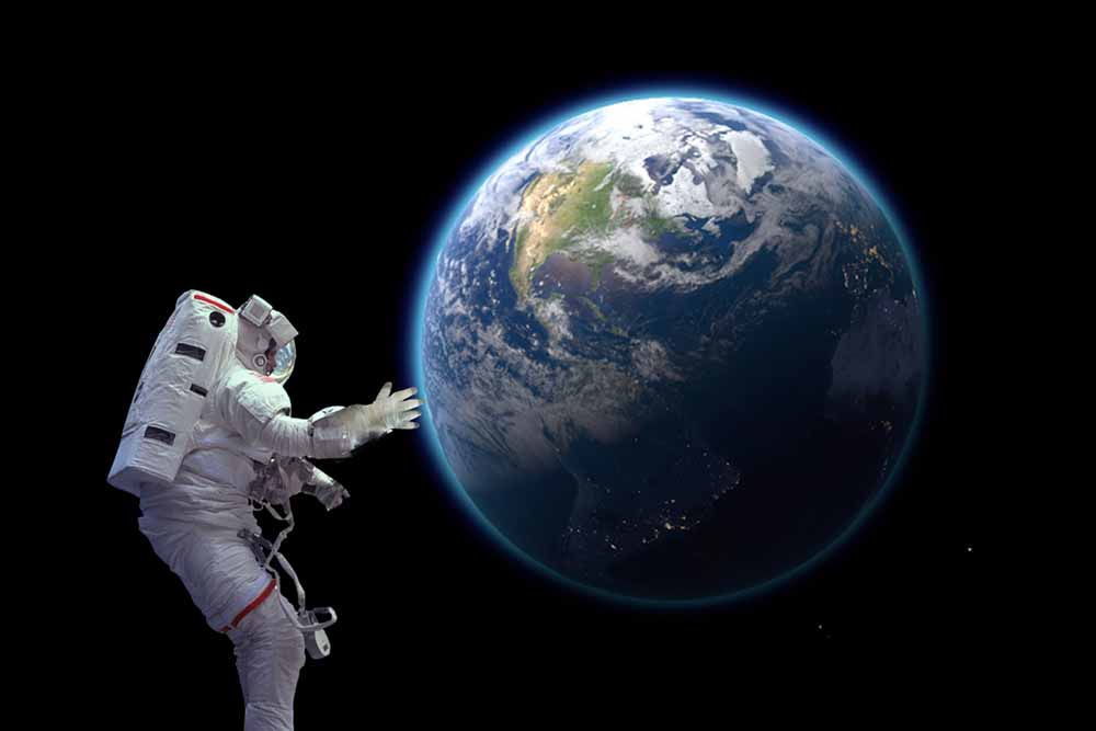 how close must you come to earth to be influenced by its gravity