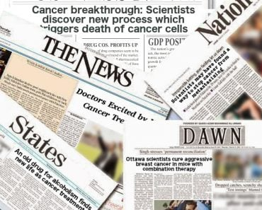 Cancer treatment headlines news papers