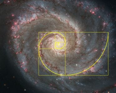 Golden spiral galaxy (Logarithmic spiral)