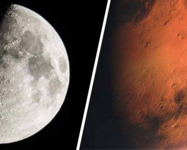 Moon & Mars Closeup