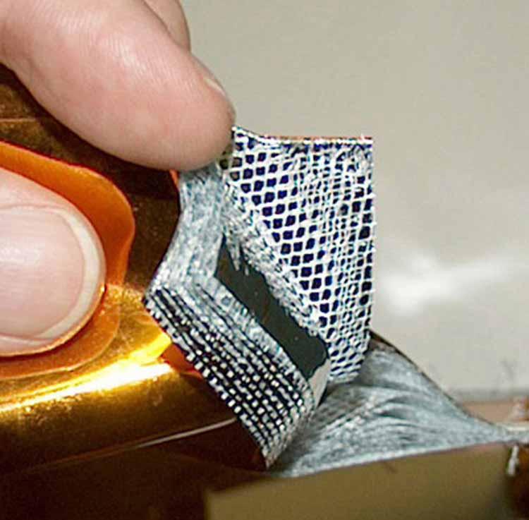 Multi-Layer Insulation Closeup