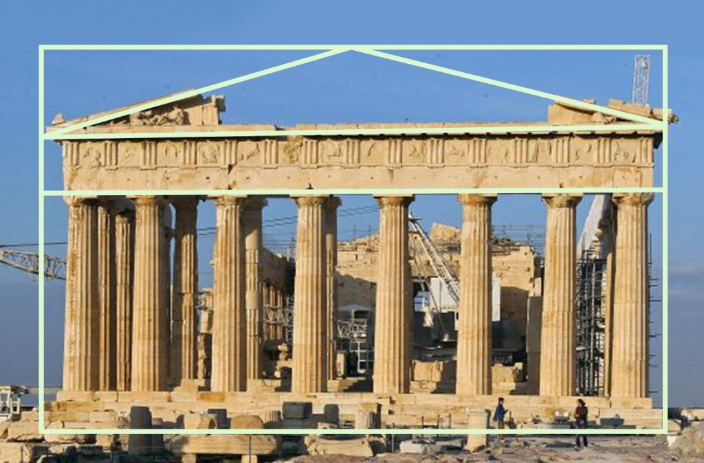 The Parthenon and Golden ratio