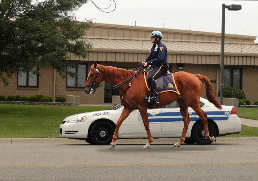 horse cop vs car cop