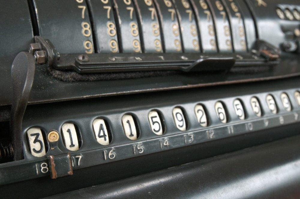 Винтажный калькулятор расчета пи вычислить вычисление математика математика