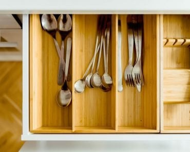 stainless steel Utensils fork knife spoon in drawer