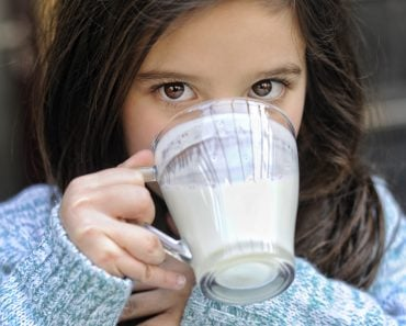 Child drinking milk